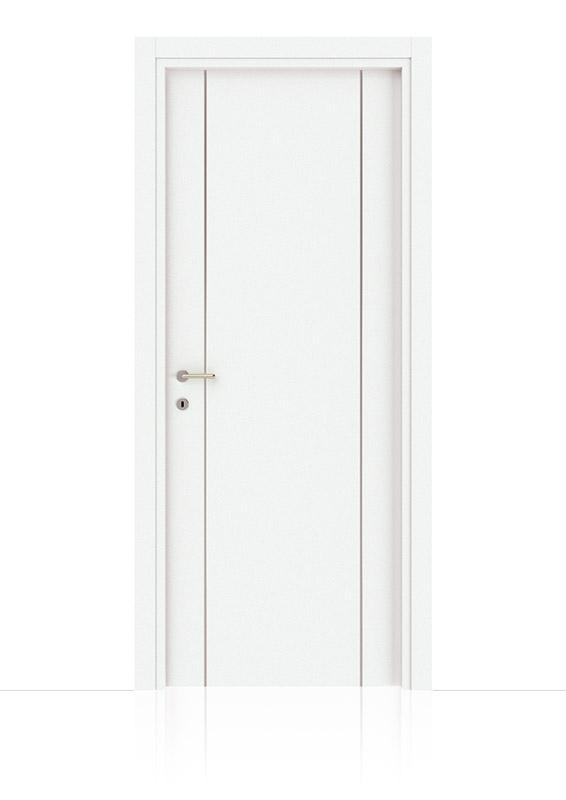 Bianco Laccato Con Inserti Verticali