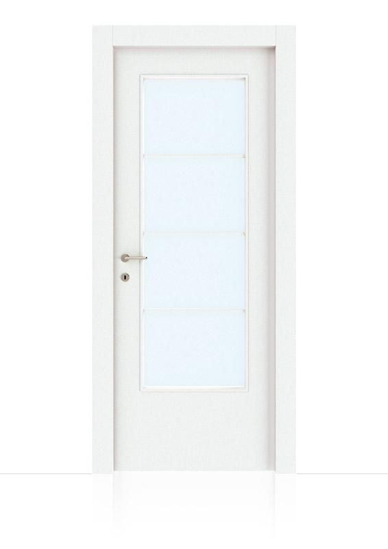 Bianco Laccato Con Vetro Alla Lombarda